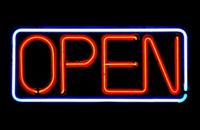 Picture of neon open sign.
