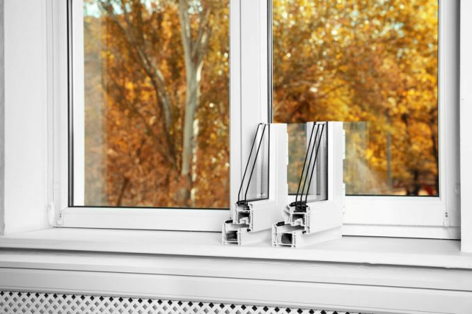 Picture of triple-pane window.